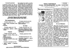 Read more about the article foglietto parrocchiale del 07/03/21