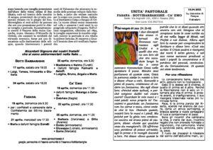 Read more about the article foglietto parrocchiale del 18/04/21