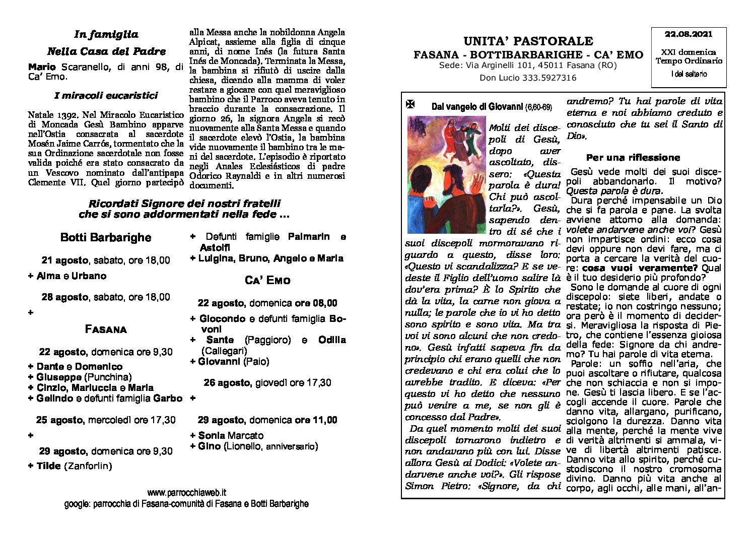 Read more about the article foglietto del 22/08