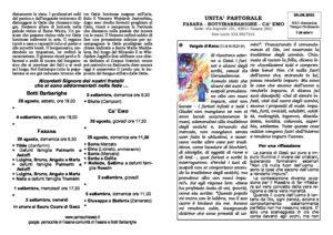 Read more about the article foglietto parrocchiale del 29/08