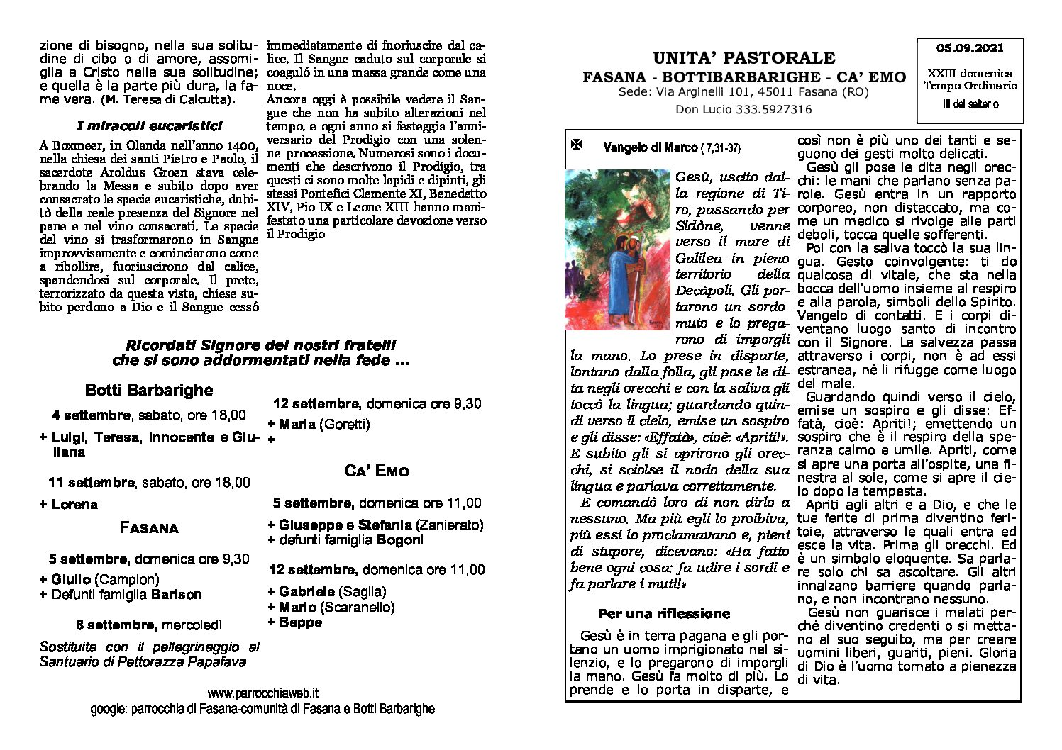 Read more about the article foglietto del 05/09