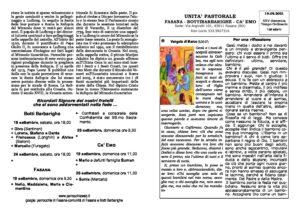 Read more about the article foglietto parrocchiale del 19/09